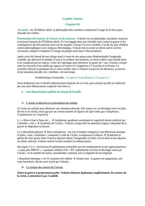 Résumé de candide chapitre par chapitre candide de voltaire jpg 1190x1684